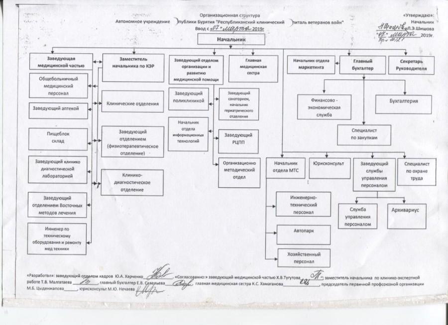 организационная структура 2019